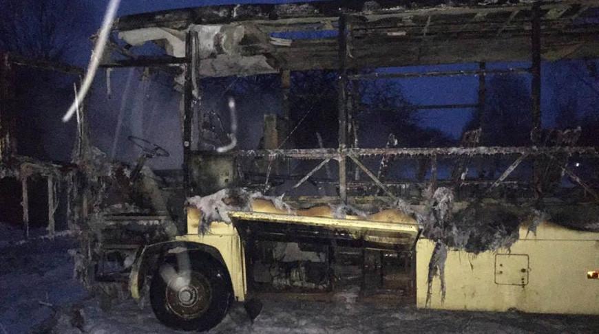 Пассажирский автобус горел в Чашникском районе