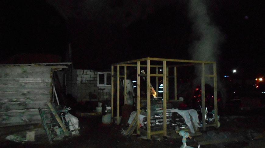 Мать и троих детей спасли при пожаре дома в Жлобинском районе