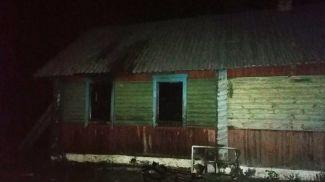 Пожар в Любанском районе. Фото МЧС