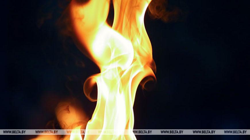 Фронтальный погрузчик горел в Буда-Кошелевском районе