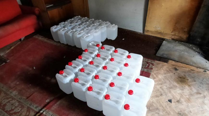 В гараже у мозырянина обнаружено 440 л спирта