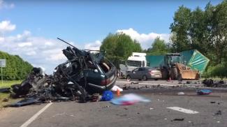 ДТП в июне вблизи аг.Романовичи. Скриншот из видео МВД