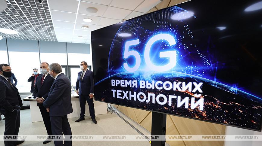 """Во время презентации технологии 5G в Китайско-белорусском индустриальном парке """"Великий камень"""""""