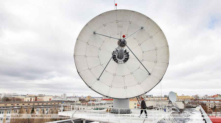 Антенна белорусского космического спутника. Фото из архива
