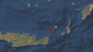 Скриншот карты Европейско-Средиземноморский сейсмологический центр