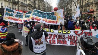 Забастовка в Париже. Фото ТАСС