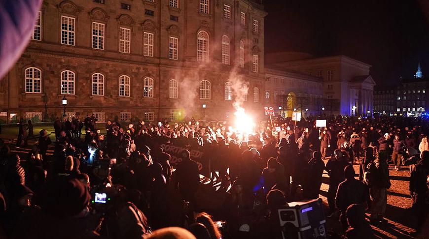 В Копенгагене прошли протесты против карантина