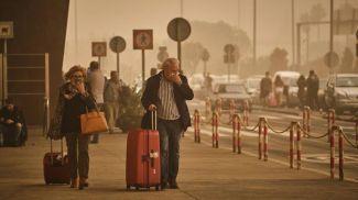 Пыль из Сахары в Европе. Фото  AP