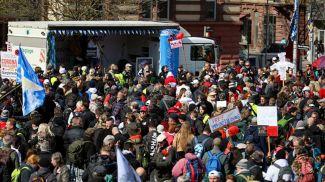Протесты в Штутгарте. Фото Imago images
