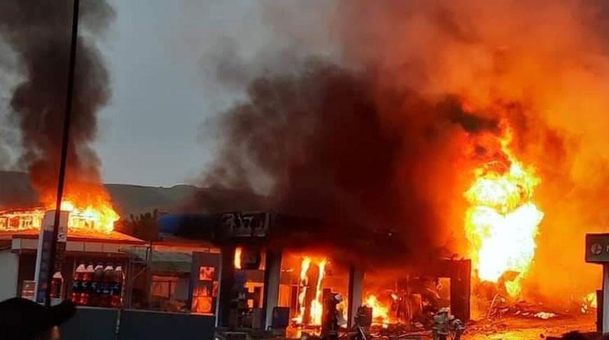Во время пожара на АЗС в Душанбе пострадали 29 человек