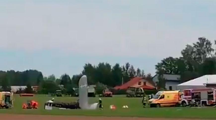 В Латвии разбился частный самолет, пилот погиб