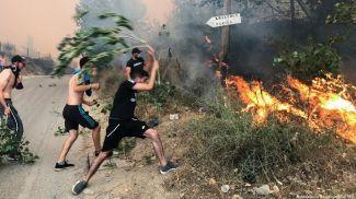 Жители Алжира пытаются тушить пожар. Фото Reuters