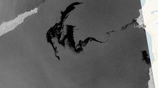 Спутниковый снимок нефтяного пятна, движущегося в направлении Кипра. Фото из открытых источников