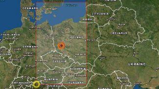 Скриншот карты Европейско-Средиземноморского сейсмологического центра