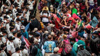 Мигранты из Гондураса. Фото EPA
