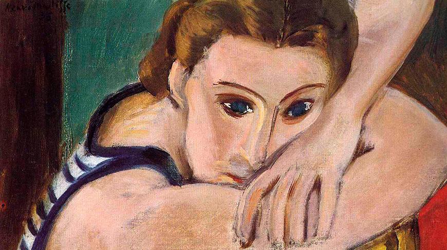 "Фрагмент картины ""Голубые глаза"" Анри Матисса"