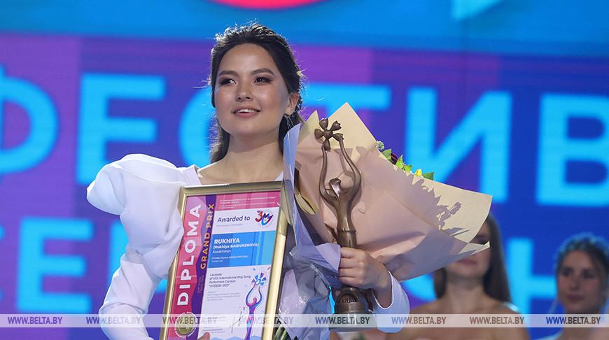Обладательница Гран-при конкурса исполнителей эстрадной песни Рухия