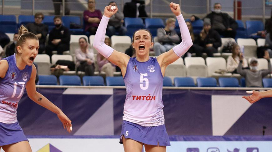 Волейболистки 'Минчанки' выиграли у 'Спарты' в матче российской суперлиги
