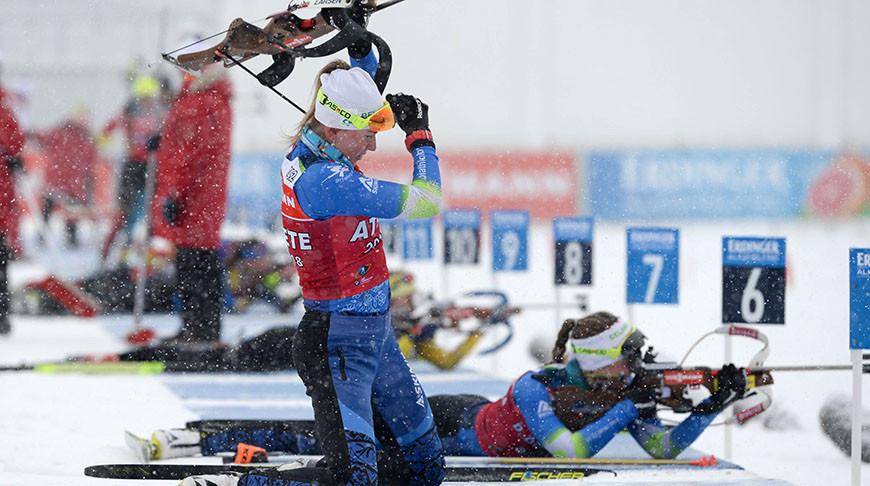Белорусская биатлонистка Динара Алимбекова заняла 4-е место на этапе КМ в Чехии