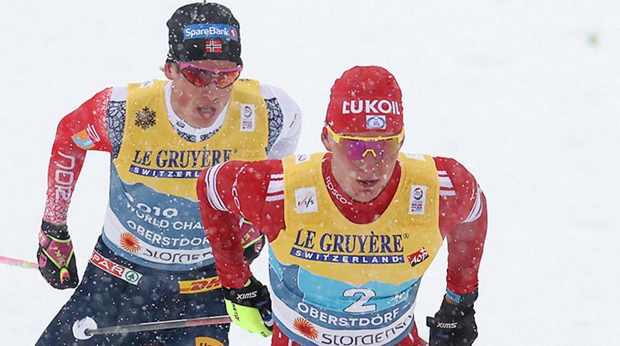 Александр Большунов и Йоханнес Клебо.Фото  Getty Images