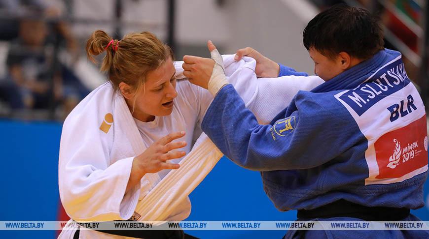Марина Слуцкая выиграла серебро турнира 'Большого шлема' по дзюдо в Казани