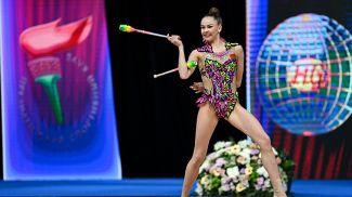 Анастасия Салос во время соревнований