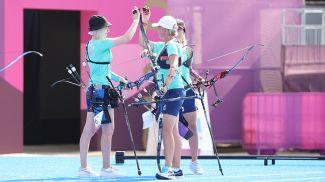 Белорусские лучницы вышли в полуфинал командного турнира Олимпийских игр в Токио