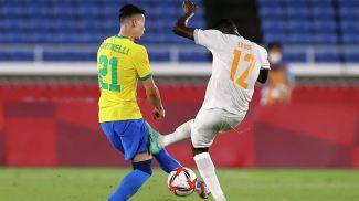 Во время матча Бразилия - Кот-д'Ивуар. Фото  Reuters