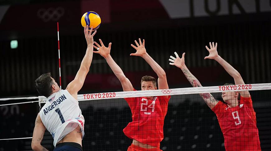 Российские волейболисты победили американцев в матче олимпийского турнира
