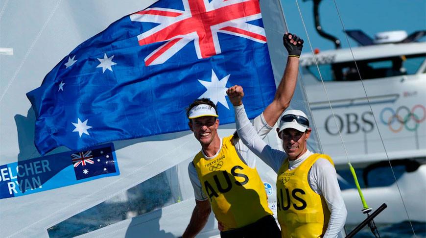 Австралийские яхтсмены Белчер и Райан стали олимпийскими чемпионами в классе 470