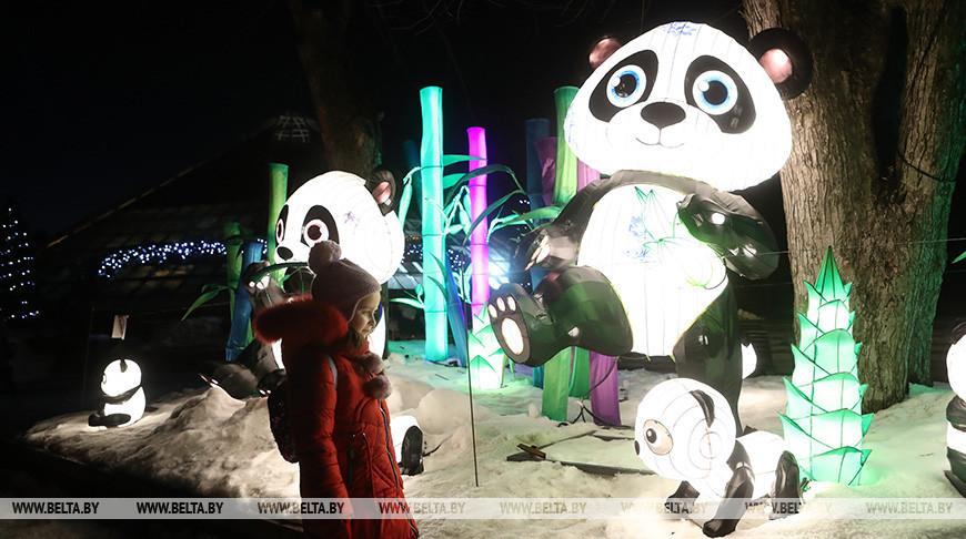 На фестивале китайских фонарей. Фото из архива
