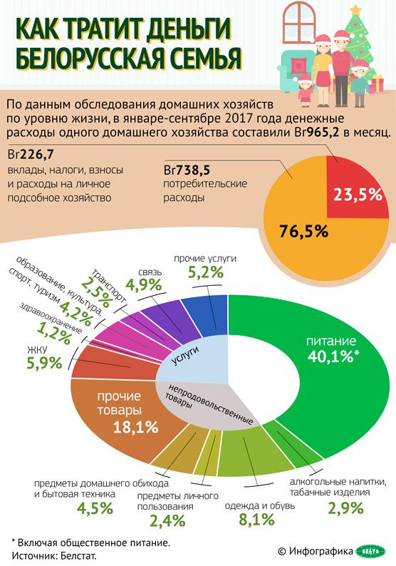Как тратит деньги белорусская семья