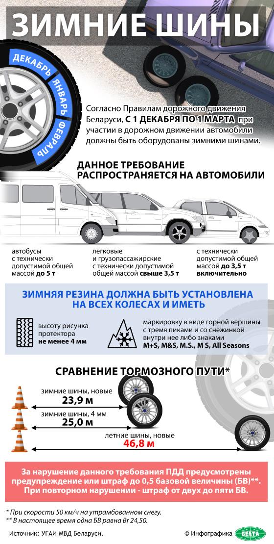 Зимние шины (Инфографика)