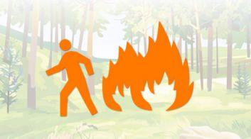 Безопасное поведение при пожаре в лесу