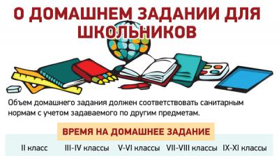 О домашнем задании для школьников