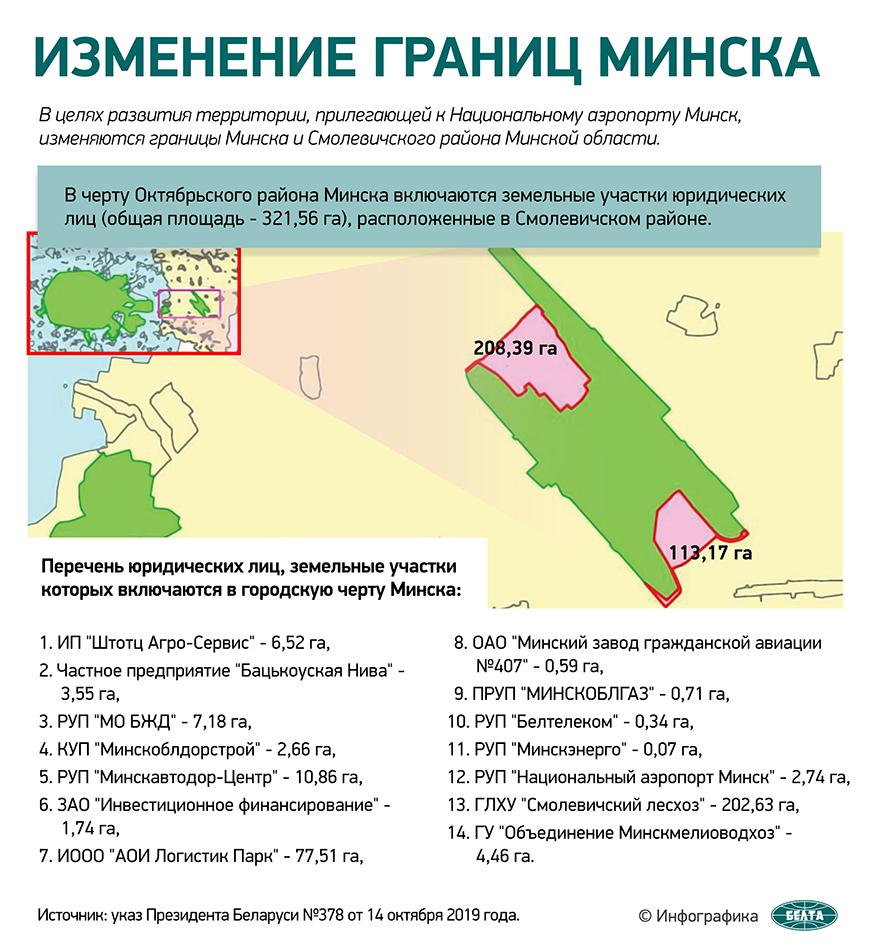 Изменение границ Минска