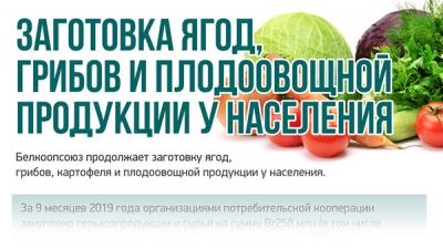 Заготовка ягод, грибов и плодоовощной продукции у населения