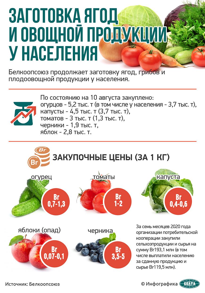 Заготовка ягод и плодоовощной продукции у населения