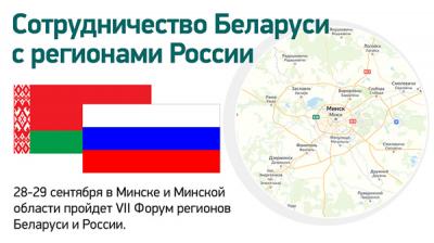 Сотрудничество Беларуси с регионами России