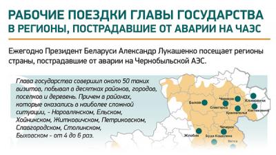 Рабочие поездки главы государства в регионы, пострадавшие от аварии на ЧАЭС