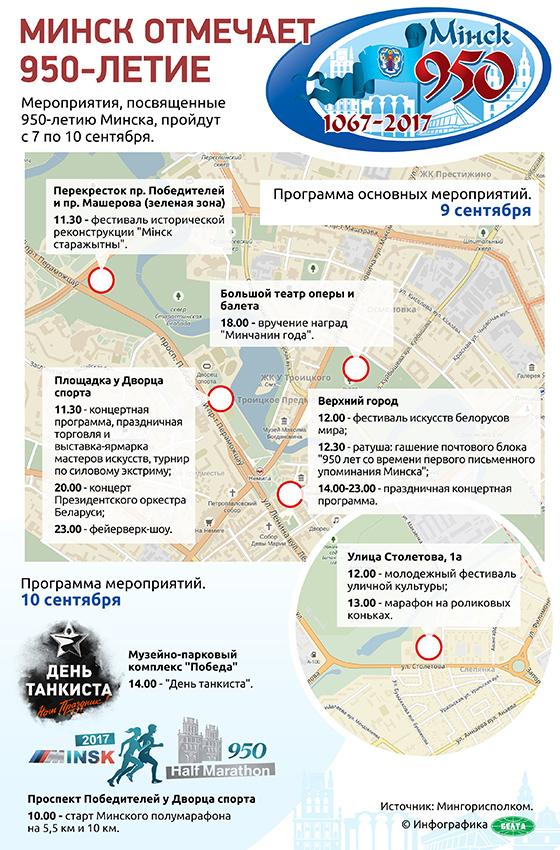 Минск отмечает 950-летие