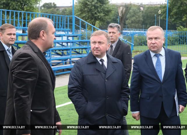 Кобяков ознакомился со строительством спортзала по игровым видам спорта в училище олимпийского резерва