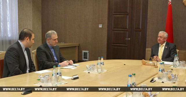 Мясникович встретился с послом Ирана