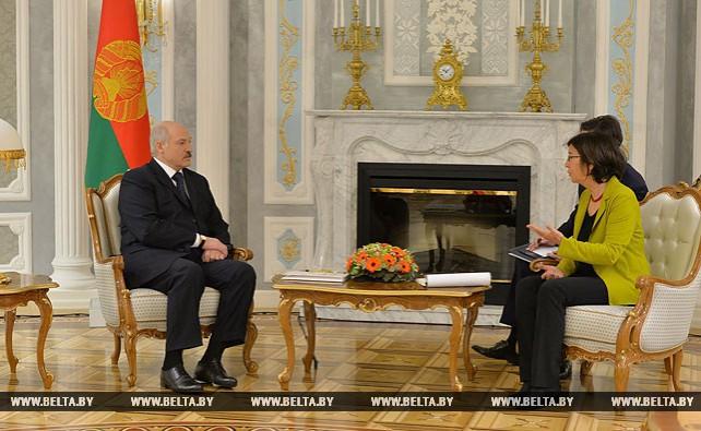 Лукашенко встретился с председателем Парламентской ассамблеи ОБСЕ Кристин Муттонен