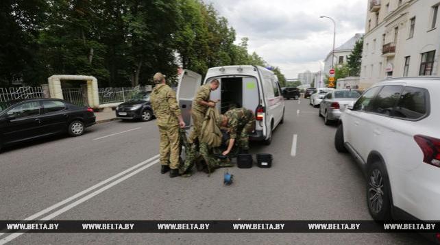 Часть улицы Красноармейской в Минске была оцеплена из-за бесхозной сумки