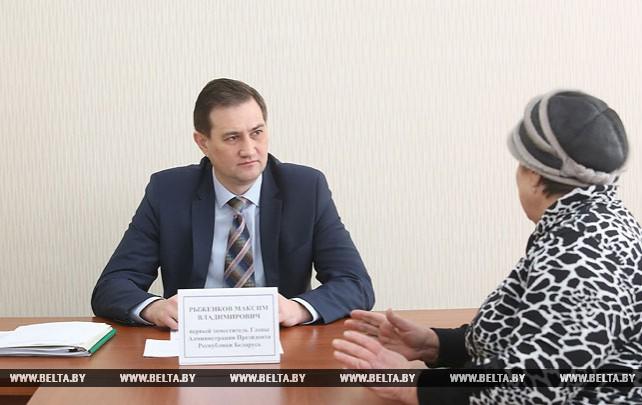 Рыженков провел выездной прием в Рогачеве по вопросам реализации норм декрета №3