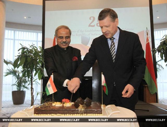 Торжественный прием по случаю 25-летия дипотношений между Индией и Беларусью прошел в Минске