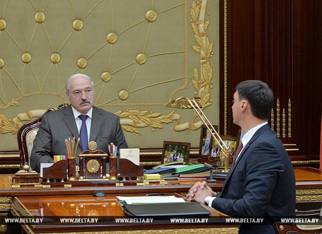 Лукашенко встретился с министром по налогам и сборам Сергеем Наливайко