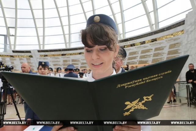 В Музее истории Великой Отечественной войны торжественно принесли присягу молодые таможенники