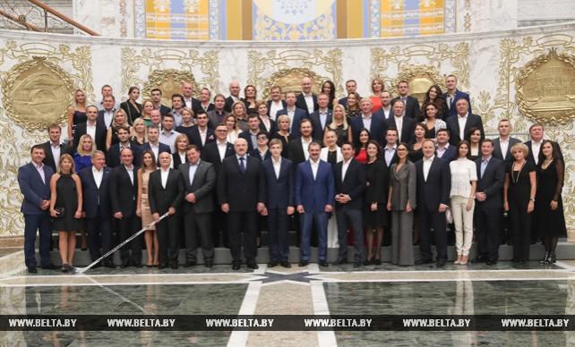 Прием по случаю 20-летия хоккейной команды Президента Беларуси состоялся во Дворце Независимости